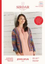 Sirdar Jewelspun Aran Knitting Pattern Booklet  - 10026 Top Down Cardigan
